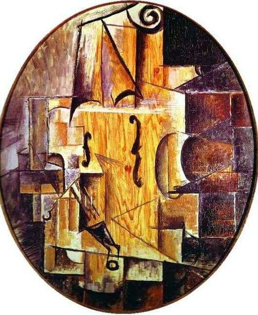 Description of the painting by Pablo Picasso Violin