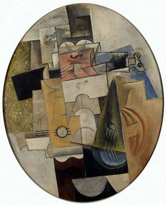 Description of the painting by Pablo Picasso Musical Instruments