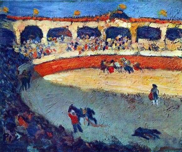 Description of the painting by Pablo Picasso Corrida