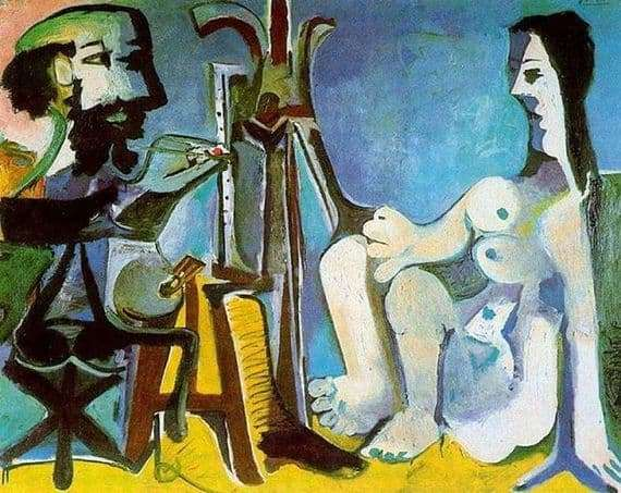 Description of the painting by Pablo Picasso Artist and Model