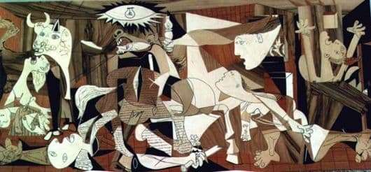 Description of the painting by Pablo Picasso Guernica