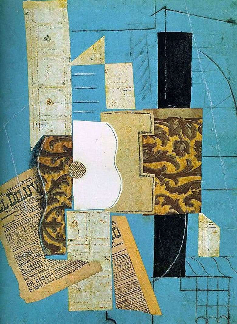 Description of the painting by Pablo Picasso Guitar