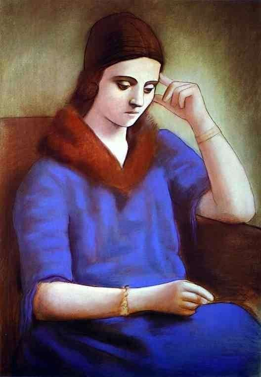 Description of the painting by Pablo Picasso Portrait of Olga Picasso