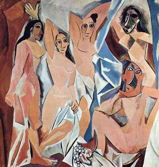 Description of the painting by Pablo Picasso Avignon girls
