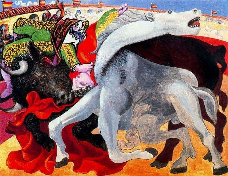 Description of the painting by Pablo Picasso Death of a bullfighter