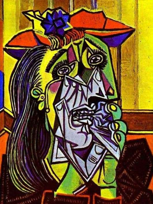 Description of the painting by Pablo Picasso Weeping Woman