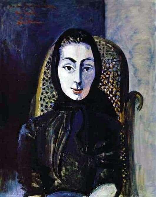 Description of the painting by Pablo Picasso Jacqueline Rock