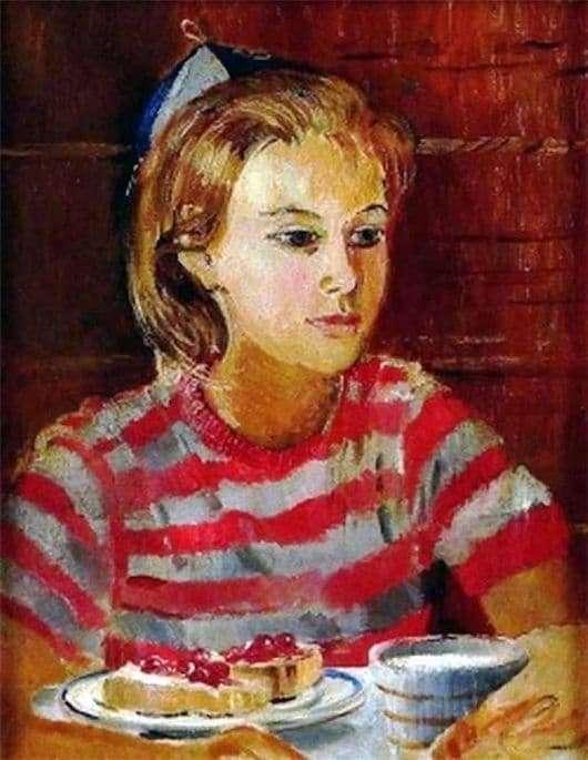 Description of the painting by Yuri Pimenov Tanya Pimenov