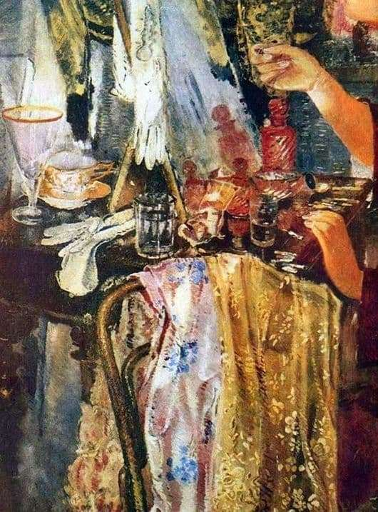 Description of the painting by Yuri Pimenov Actress