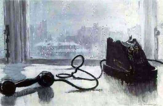 Description paintings Yuri Pimenov Waiting