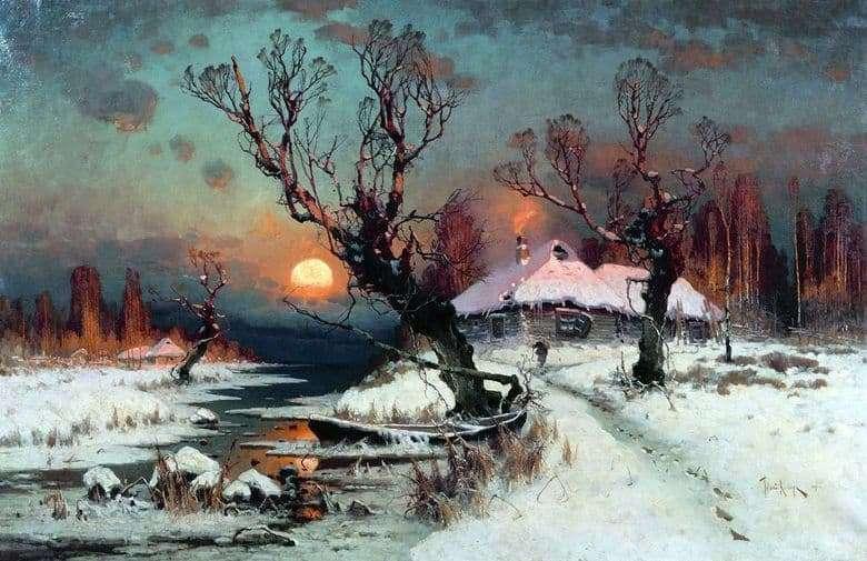 Description of the painting by Julius Klever Winter landscape