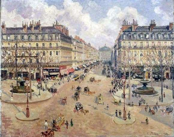 Description of the painting by Camille Pissarro Opera Travel in Paris