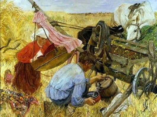 Description of the painting by Arkady Plastov From the Past