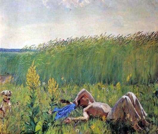 Description of the painting by Arkady Plastov Youth