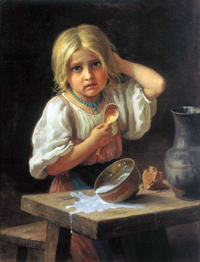 Description of the painting by Khariton Platonov Peasant girl