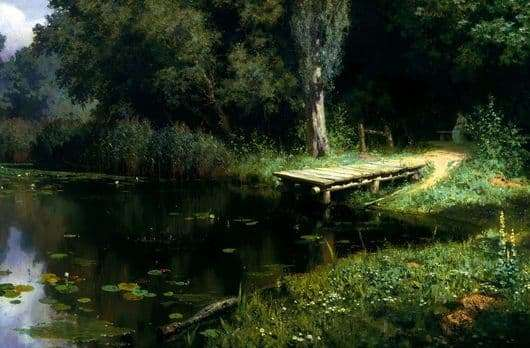Description of the painting by Vasily Polenov overgrown pond