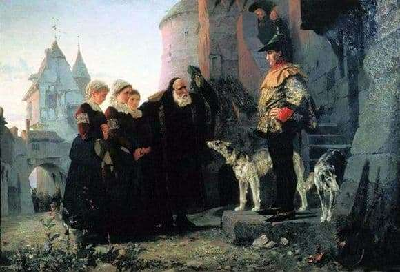 Description of the painting by Vasily Polenov The Right of the Master