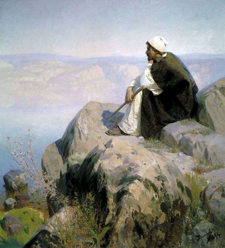 Description of the painting by Vasily Polenov Dream