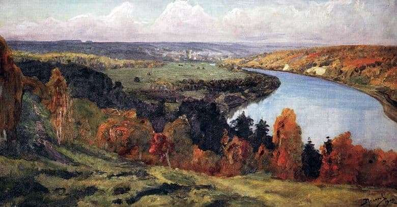 Description of the painting by Vasily Polenov Oka Valley