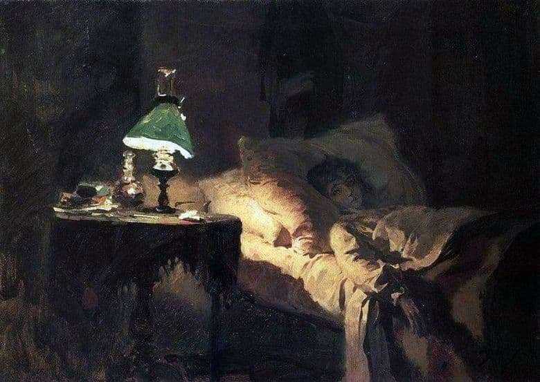Description of the painting by Vasily Polenov Patient