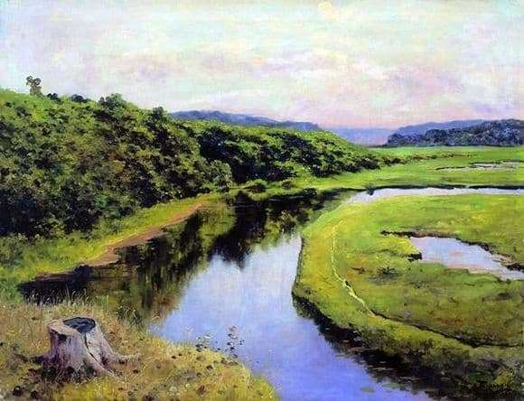 Description of the painting by Vasily Polenov River