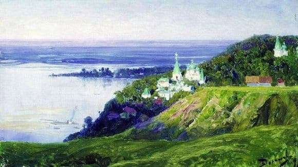 Description of the painting by Vasily Polenov Monastery over the river