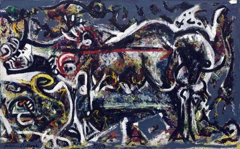 Description of the painting by Jackson Pollock Wolf