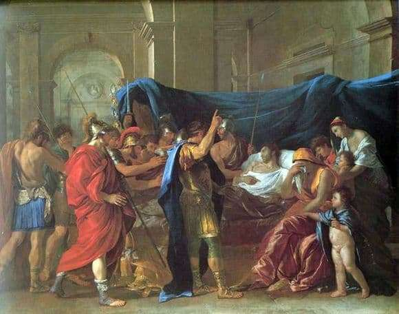 Description of the painting by Nicolas Poussin Death of Germanicus