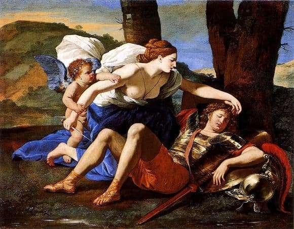 Description of the painting by Nicolas Poussin Rinaldo and Armida