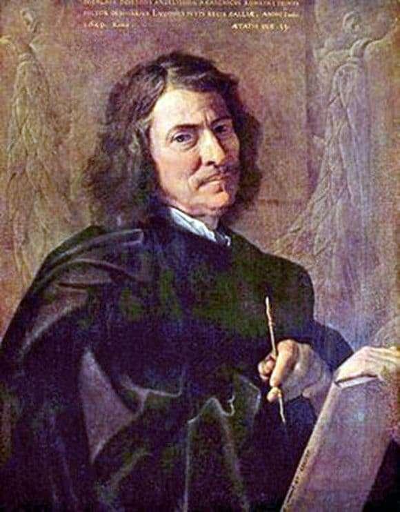 Description of the painting by Nicolas Poussin Self portrait