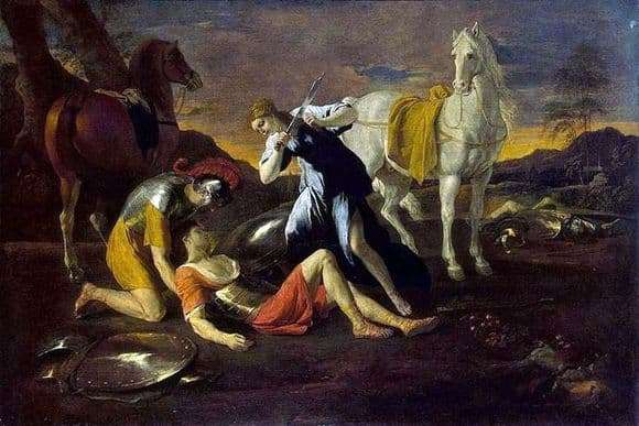 Description of the painting by Nicolas Poussin Tancred and Herminia