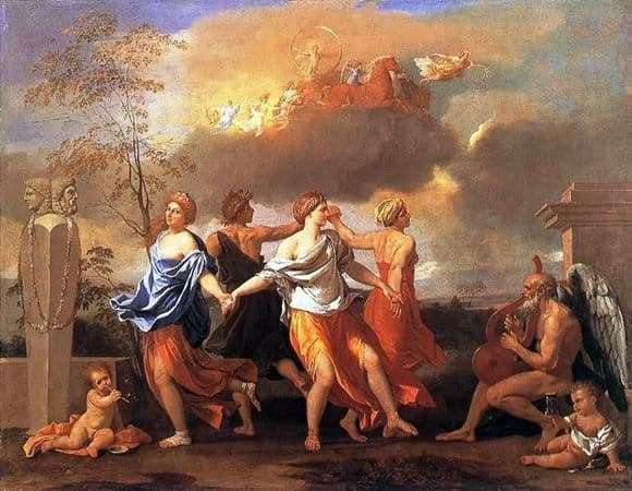 Description of the painting by Nicolas Poussin Dance to the music of time