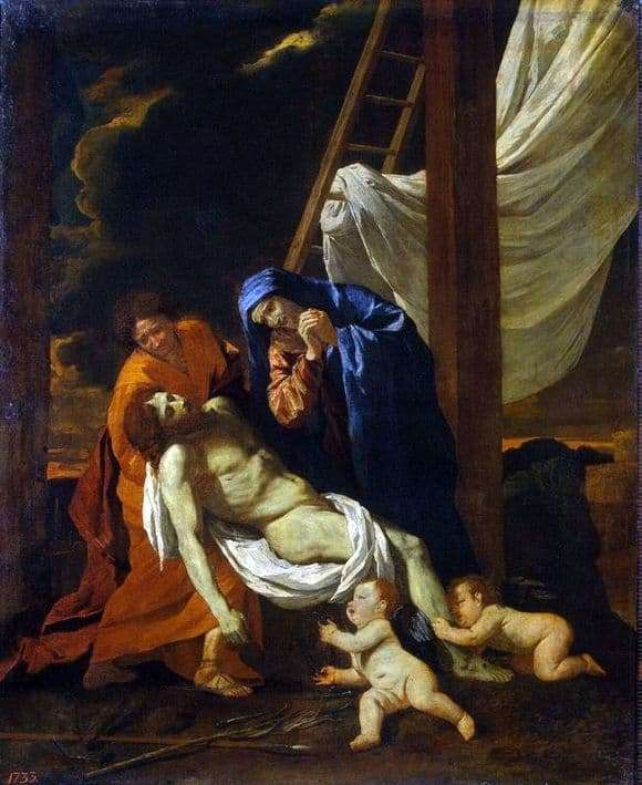 Description of the painting by Nicolas Poussin The Descent from the Cross