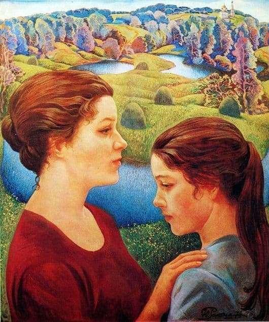 Description of the painting by Yuri Raksha Continuation