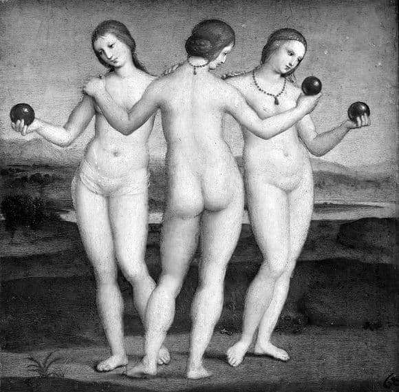 Description of the painting by Raphael Santi Three Graces