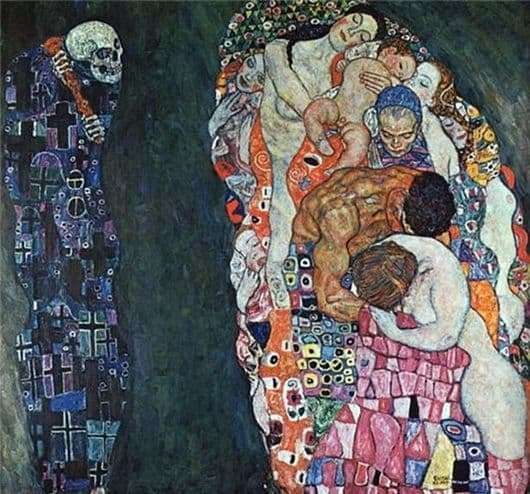 Description of the painting by Gustav Klimt Death and Life