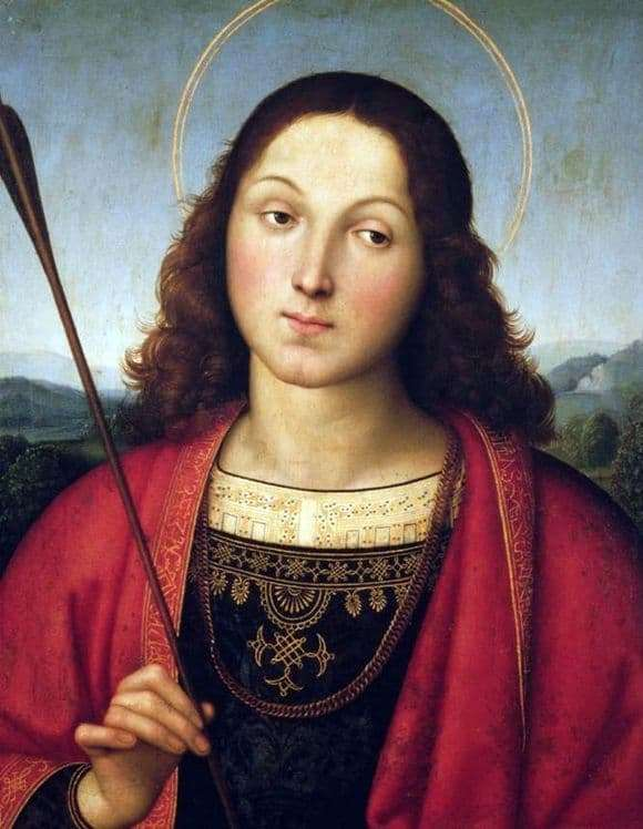 Description of the painting by Raphael Santi Saint Sebastian