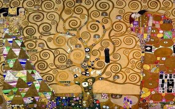 Description of the painting by Gustav Klimt Tree of Life