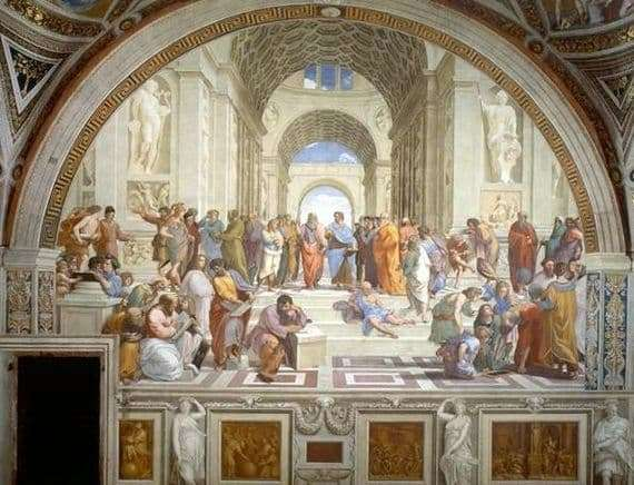 Description of the fresco by Rafael Santi The School of Athens