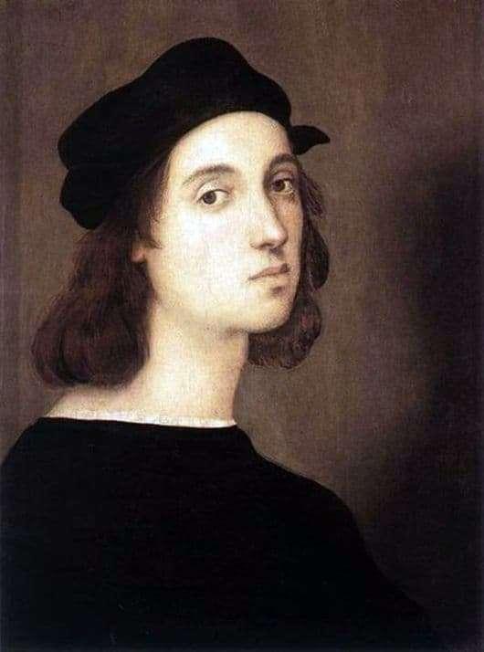 Description of the painting by Raphael Self portrait