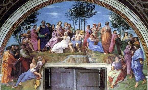 Description of the painting by Raphael Santi Parnas