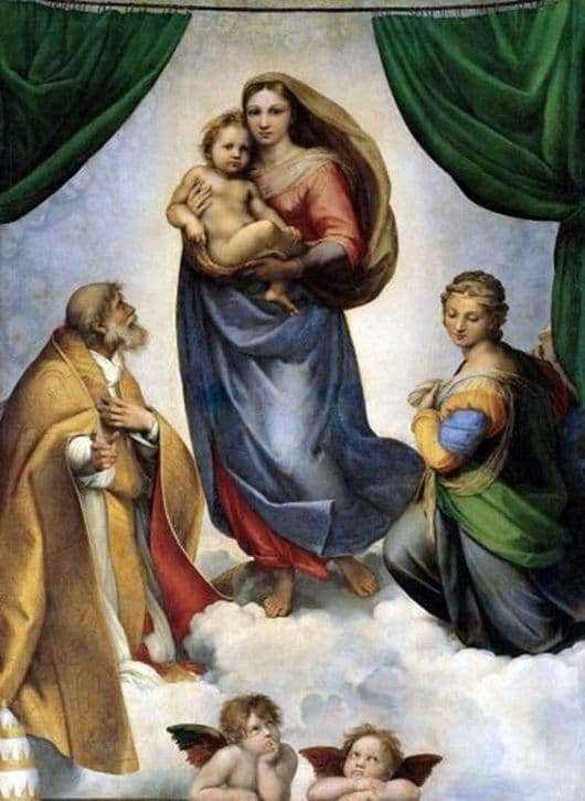 Description of the painting by Raphael Sistine Madonna