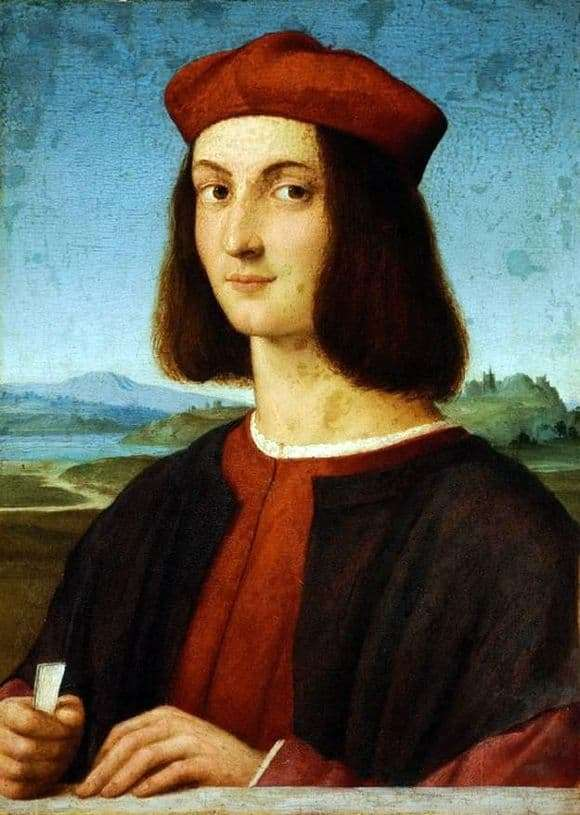Description of the painting by Raphael Santi Portrait of a young man