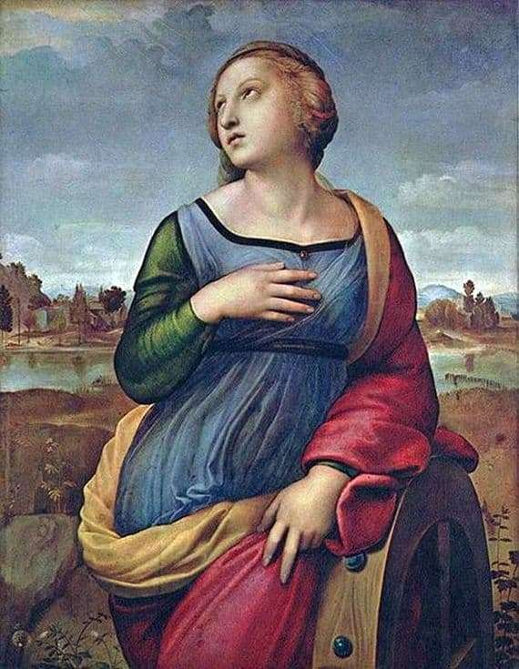 Description of the painting by Santi Raphael Saint Catherine of Alexandria