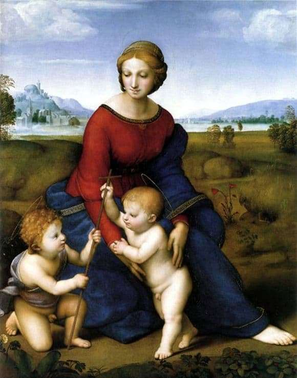 Description of the painting by Rafael Santi Madonna in the green