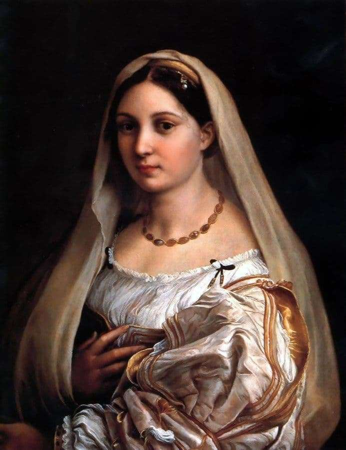 Description of the painting by Raphael Santi Lady with a veil