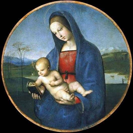 Description of the painting by Rafael Santi Madonna and Child (Madonna Conestabile)