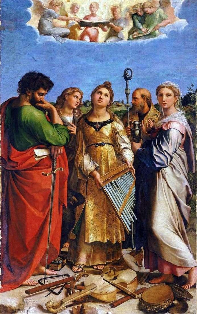 Description of the painting by Raphael Santi Saint Cecilia