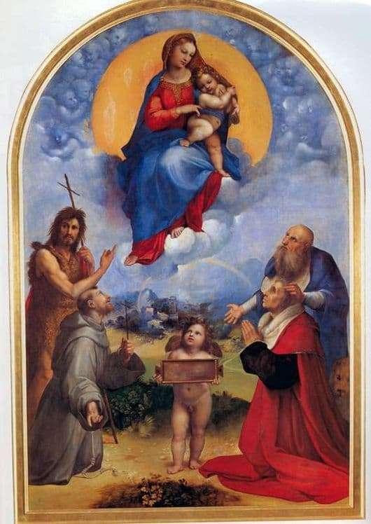 Description of the painting by Raphael Santi Madonna di Foligno