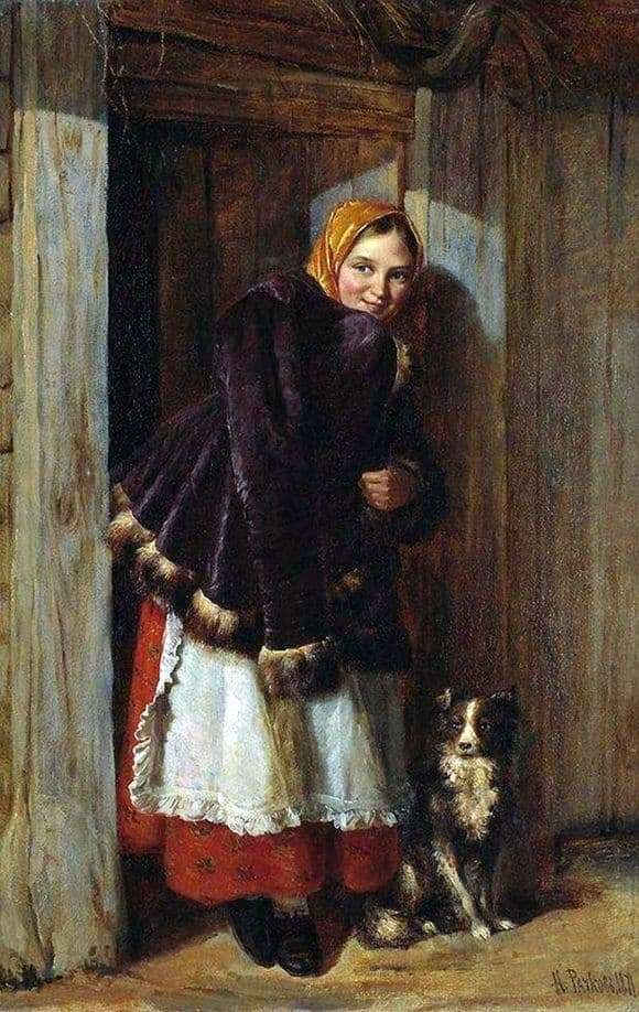 Description of the painting by Nikolai Rachkov At the gate